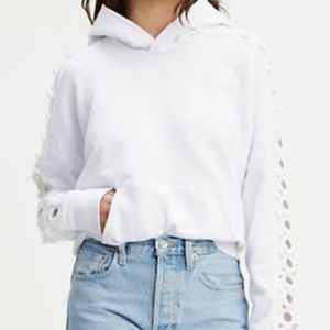 Levi's Made & Crafted white Crochet Hoodie